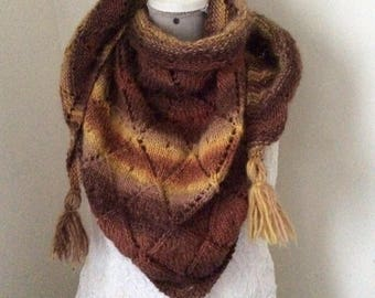 Nice shawl or scarf / hand made wool