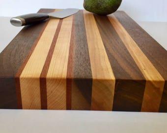 Cutting Board, walnut, maple ,cherry,mahogany