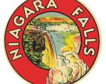 Vintage Style Niagra Falls  Travel Decal sticker