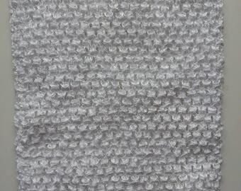 21 cm * 22 cm  bustier tube crochet de couleur blanc