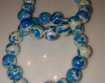 Double Blue and White Bracelet