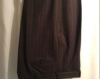 Beautiful Ralph Lauren Blue Label Chalk Stripe Slacks (34/32)