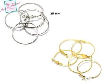 20 35 mm support earring, gold/silver hoop earrings
