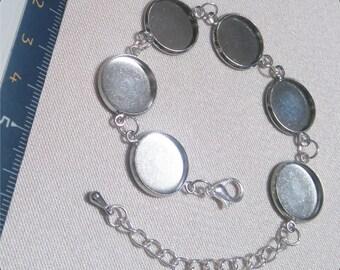 Bracelet 6 connectors cabochon