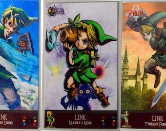 Set of 3 Zelda Amiibo cards. Majora's Mask, Skyward Sword, Twilight Princess s