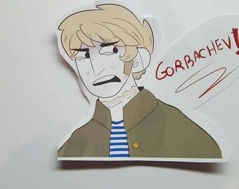 Gorbachev! Russia sticker