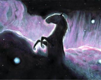 Horsehead Nebula - Original Artwork - Mixed Media