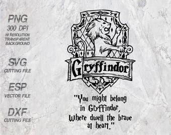 Gryffindor home logo slogan Hogwarts home  Harry Potter Quote ,SVG,Clipart,esp,dxf,png 300 dpi