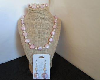 Necklace ,Earrings w/ Bracelet Set