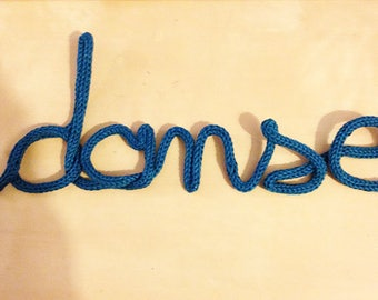 Knitted decorative word to customize - Small