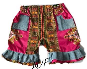 Dashiki Denim Girl Shorts