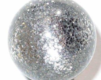 10 pearls grey glitter polaris 8mm 10 beads