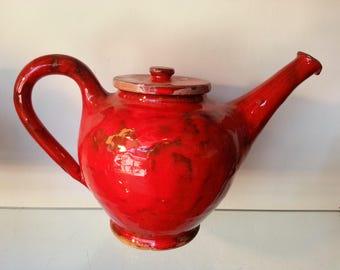 handmade red earthenware teapot