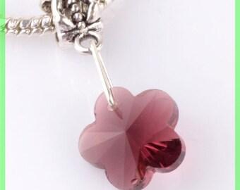 bail N62 clover European spacer bead for bracelet charms