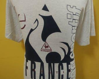 Vintage Le Coq Sportif France Big Logo t- Shirt