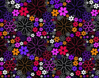PLACEMAT semi-rigid ORIGINAL AESTHETIC WASHABLE and durable - flowers - floral night.