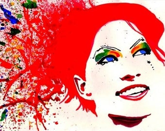 Printable Amanda Palmer Rainbow Explosion Painting - Instant Digital Download DIY Wall Art