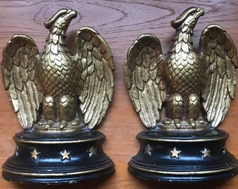 Vintage Sexton Federal Eagle Bookends from the 1930's