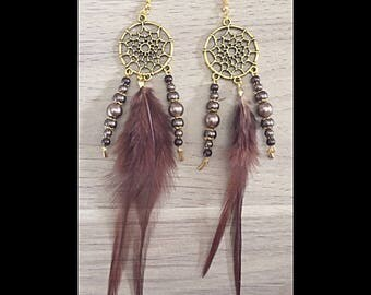 DreamCatcher earrings chocolate brown