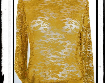 """Sweet & Sour"": mustard yellow lace woman Sweatshirt"