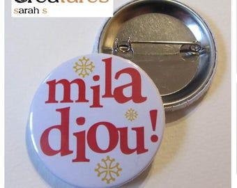 Occitan 38mm badge Miladiou Occitan cross