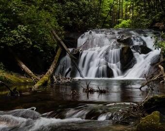 8x12 Duke's Creek Waterfall - Ready for Frame