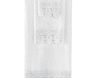 Lace bathroom decoration set