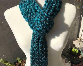 Handmade Knitted Scarf w/loop - Item #2021