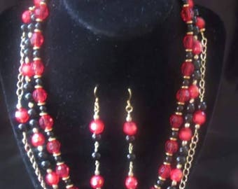 3 Strand hand crafted necklace