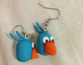 From the game angry bird earring