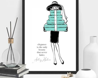 Audrey Hepburn Poster | Fashion Print | Audrey Hepburn Print | Fashion Printable | Audrey Hepburn Printable | Wall Art | Home Decor