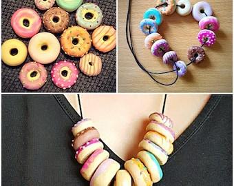 Handmade Sprinkle Doughnut Necklace