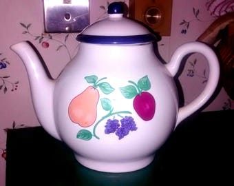 Princess House Orchard Medley Teapot w/ Lid