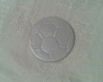 Set of 60 dies/punch in the shape of embossed soccer ball