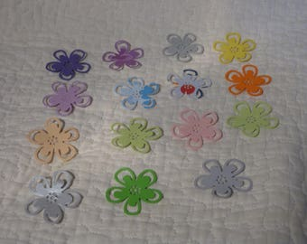 Set of 15 dies cut, paper cuts in the shape of flower