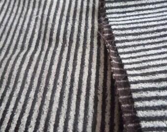 Striped brown/beige 45 * 145 cm velvet fabric