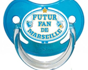 "Pacifier baby message humor ""special Marseille"""