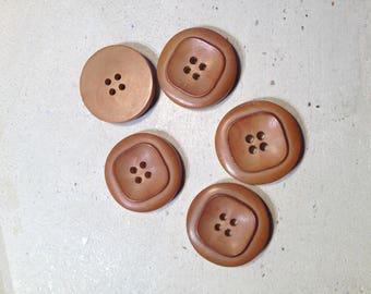 Brown vintage buttons set