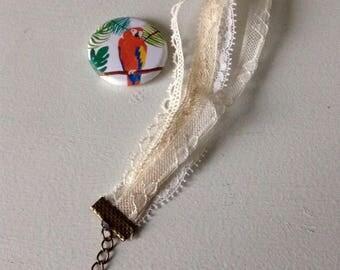 Antique lace bracelet