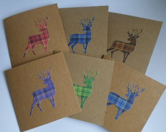 Tartan Stag Note Cards