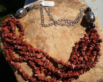 Multilayered semi precious Jasper stone