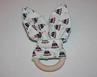 Indian Bunny ear teething ring