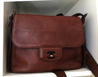 Chanel Vintage Brown Cross body Messenger Shoulder Bag
