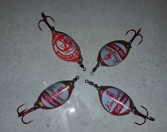 Beer Bottle Cap Fishing Spinner Lure 4 pack