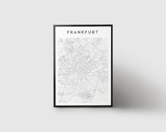 Frankfurt Map Print