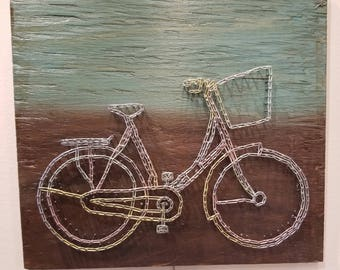 String art, cycle art, wood art, tkmavi art, thread art, colourful wood art, unique original, cycle wood art, tkmaviart, custom art, luxe
