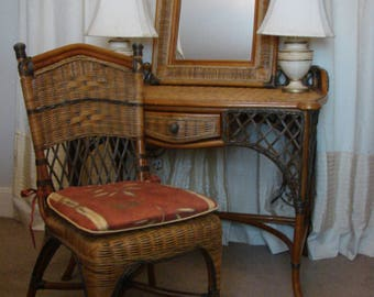 Vintage Dressing Table / Chair / Mirror Set