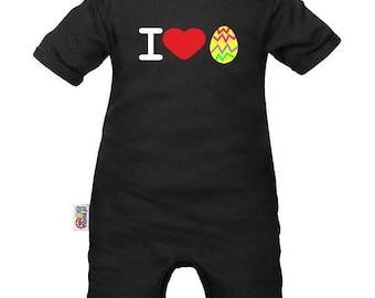 Easter baby romper: love Easter