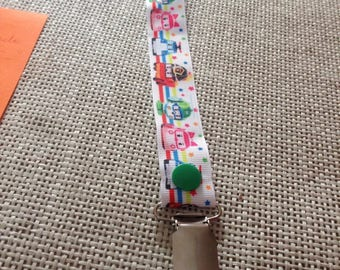 Pacifier clip metal Ribbon