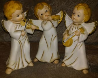 Vintage Homco Musical Angel Trio